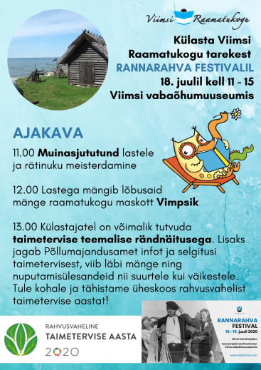 Viimsi Raamatukogu Rannarahva festivalil