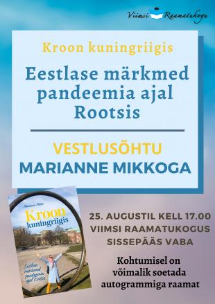 Vestlusõhtu Marianne Mikkoga