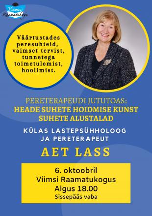 Külas lastepsühholoog ja pereterapeut Aet Lass