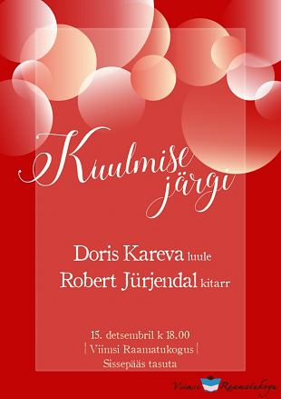 Kuulmise järg: Doris Kareva ja Robert Jürjendal
