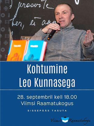 28. septembril k 18 kohtumine Leo Kunnasega
