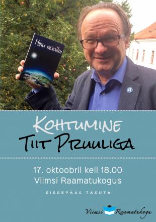 17. oktoobril k 18 kohtumine Tiit Pruuliga