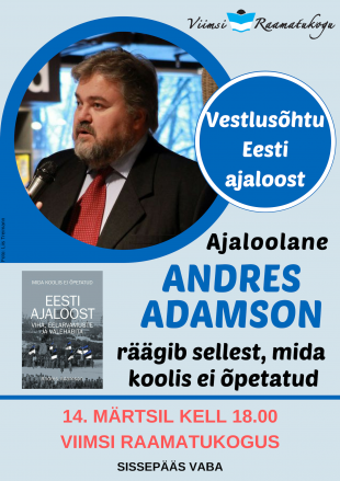 Vestlusõhtu Andres Adamsoniga